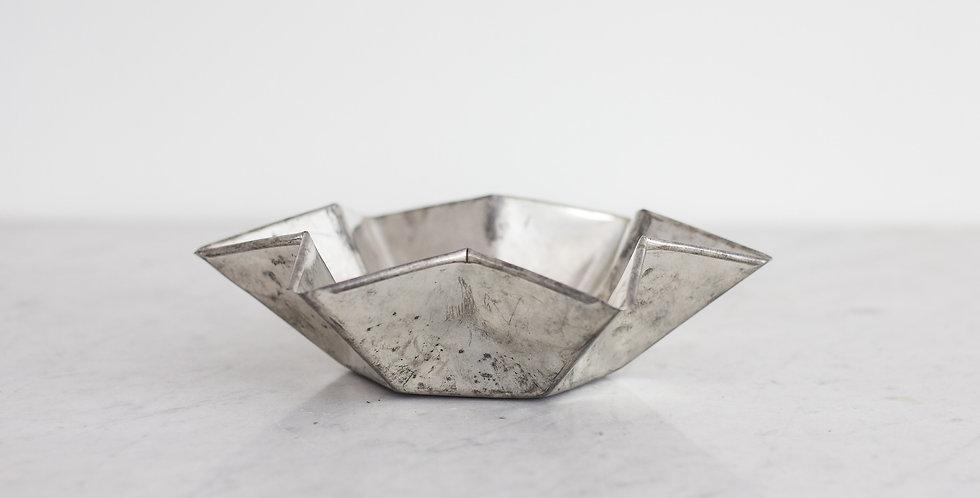 vintage tin star bowl