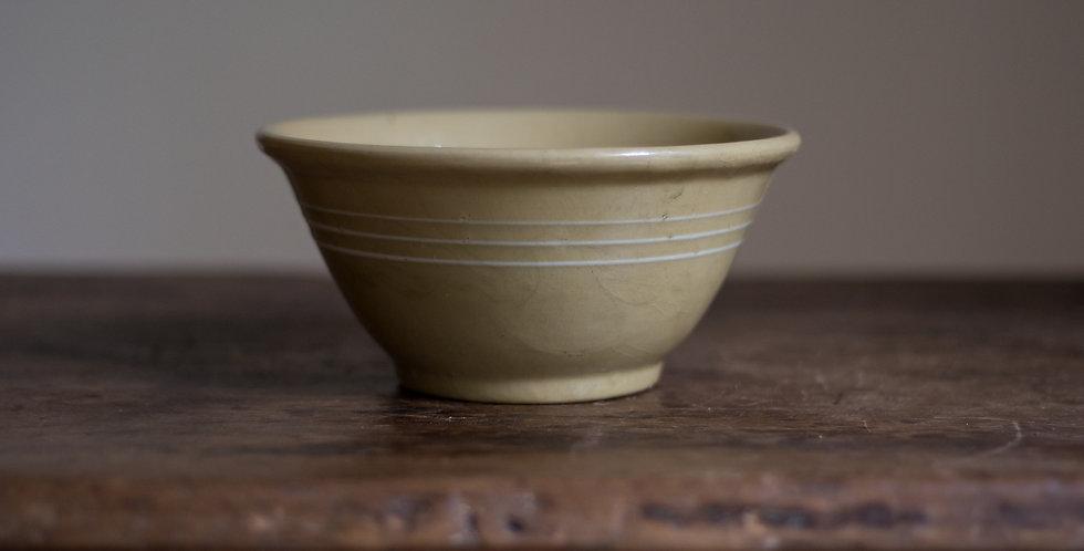vintage yellow ware bowl