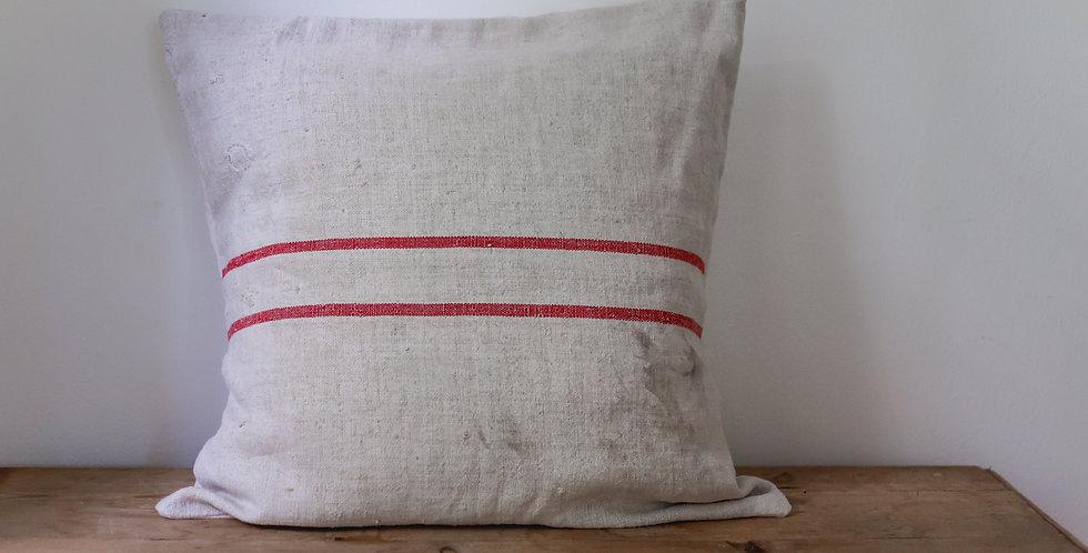 antique European grain sack pillow