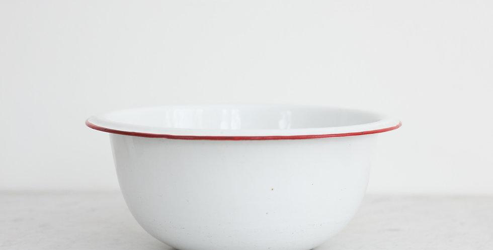 vintage enamel mixing bowl