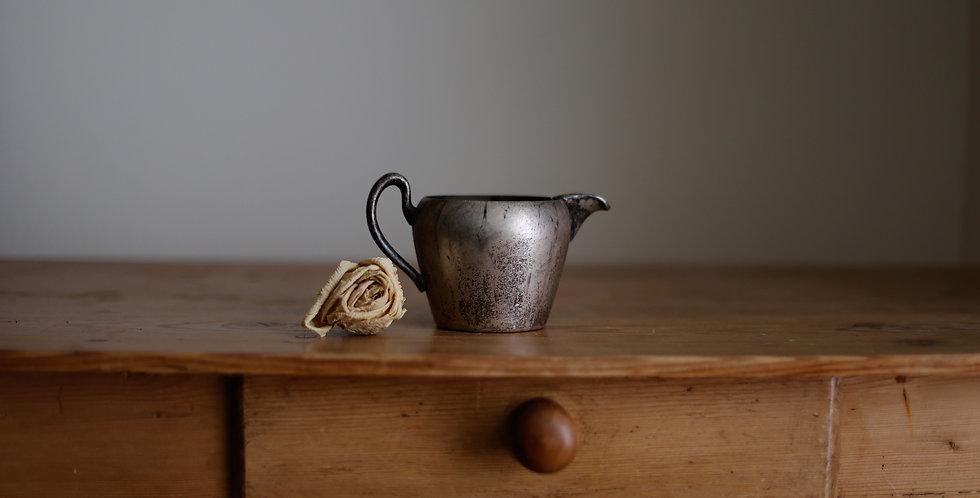 vintage pewter creamer pitcher