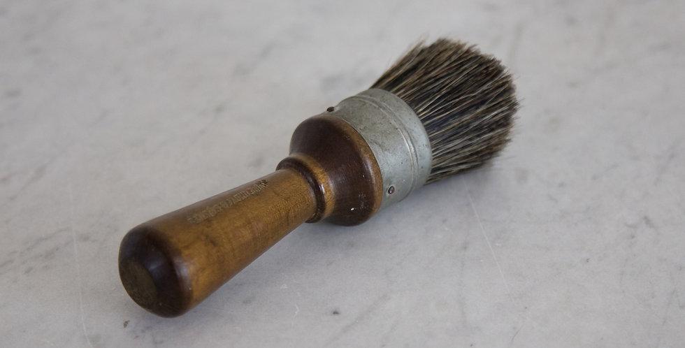 walnut horsehair lather brush