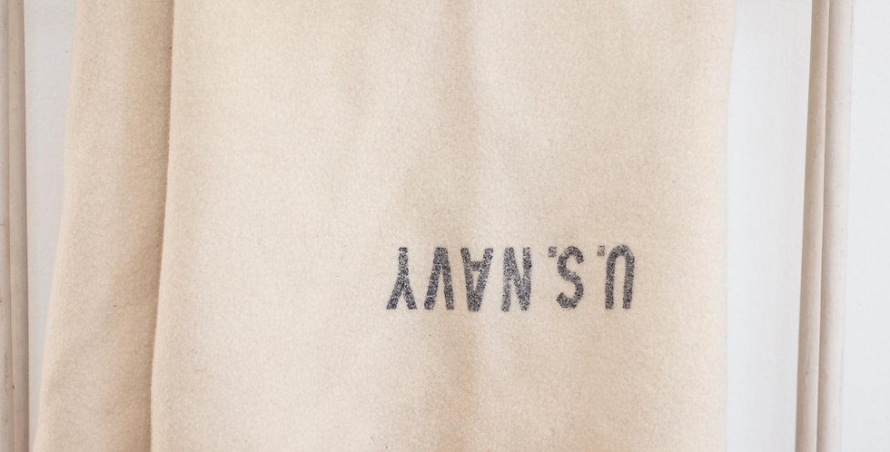 vintage wool US Navy blanket