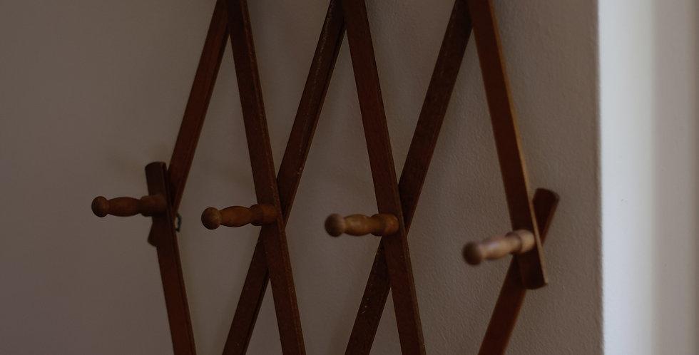 vintage wooden accordion rack