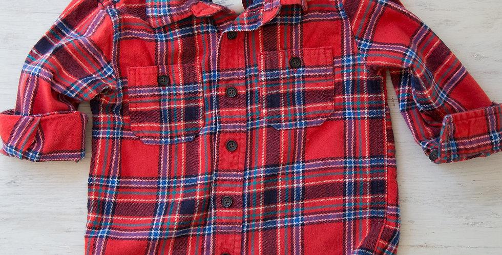 vintage Osh Kosh plaid shirt | 2T