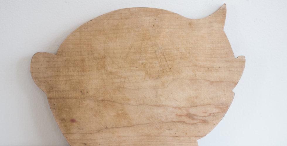 vintage pig bread board
