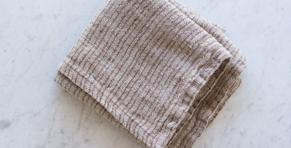 100% linen striped kitchen towel