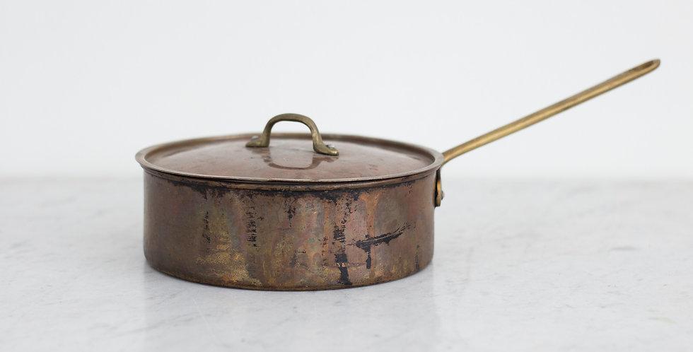 primitive copper pot with lid