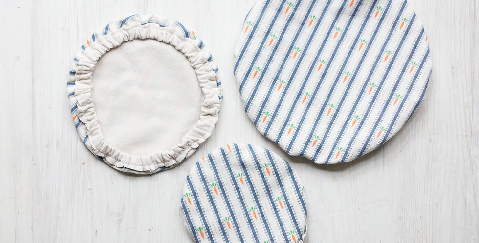 reusable vintage fabric lid set