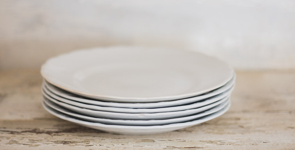 antique ironstone plate set of 6