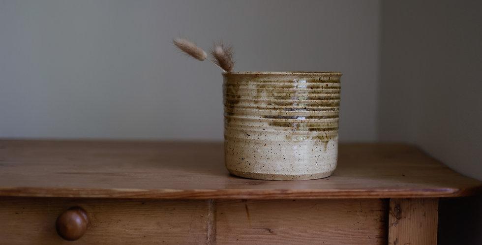 antique stoneware pottery vessel