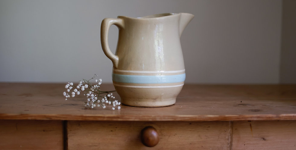 antique yelloware pitcher