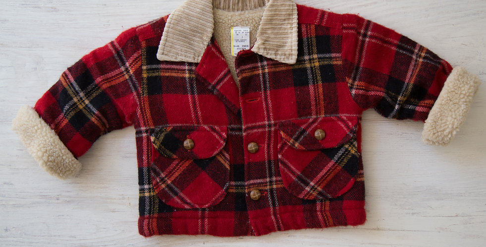 vintage plaid coat | 3-6 mo