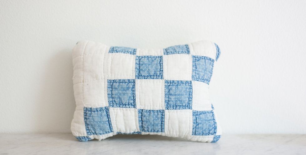 handmade quilted pillow