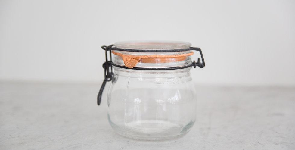 vintage glass canister