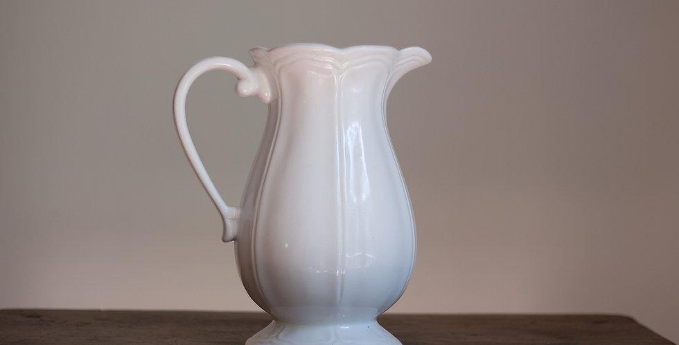 vintage white pitcher