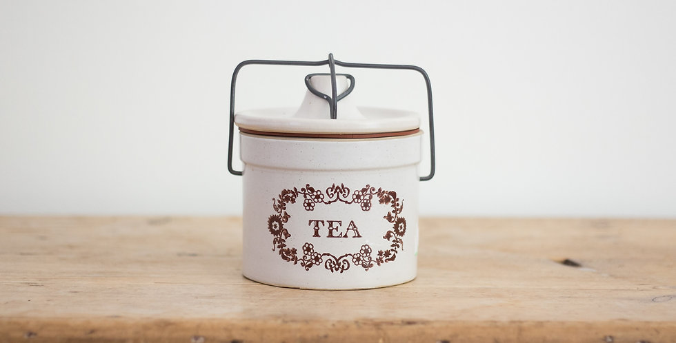 stoneware tea canister