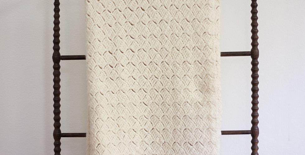 vintage knit blanket