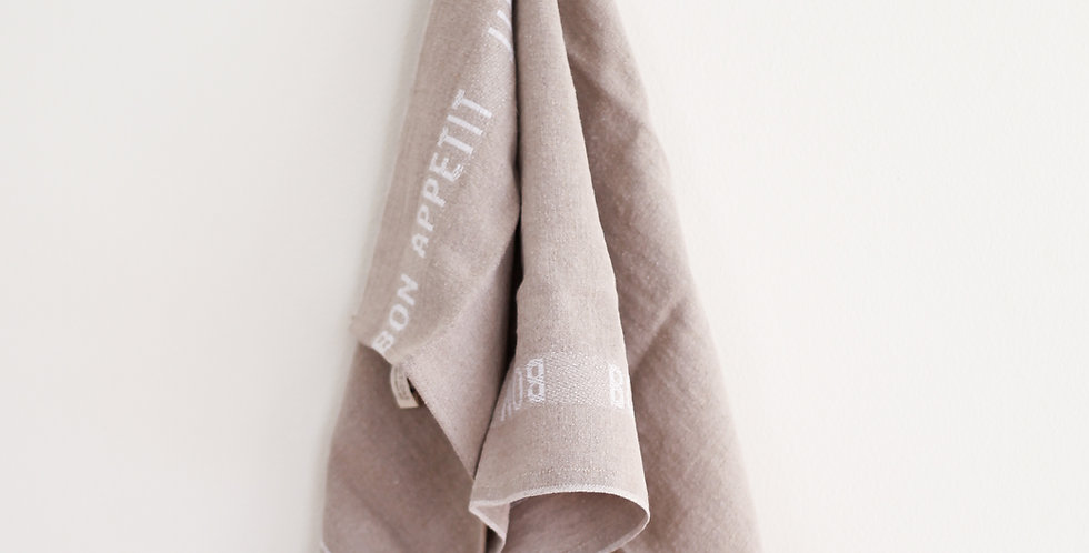 french tea towel | white bon appetit