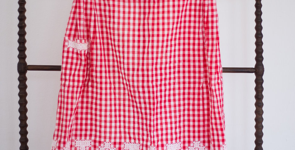 vintage classic check red apron