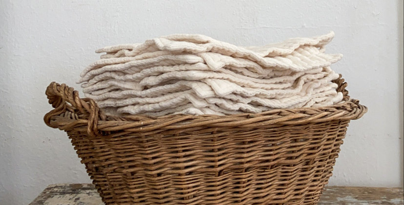vintage mini laundry basket