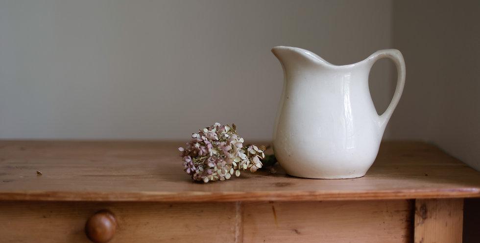 antique ironstone pitcher