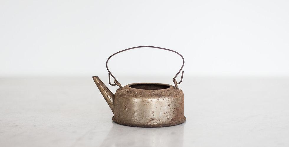 vintage mini copper kettle