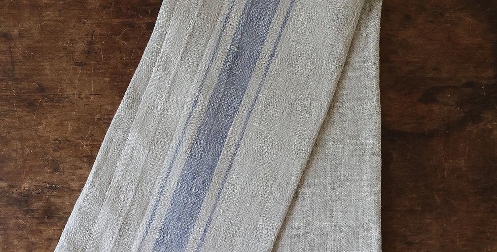 100% linen towel | blue stripe