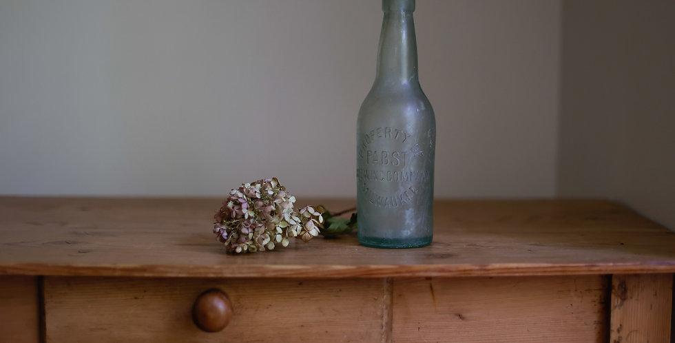 found glass bottle