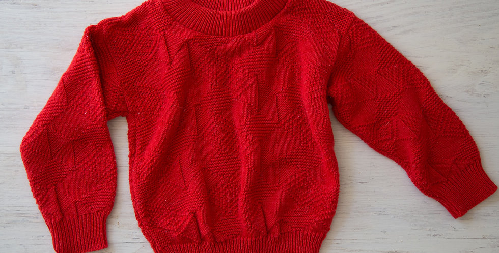 vintage red sweater | 3T