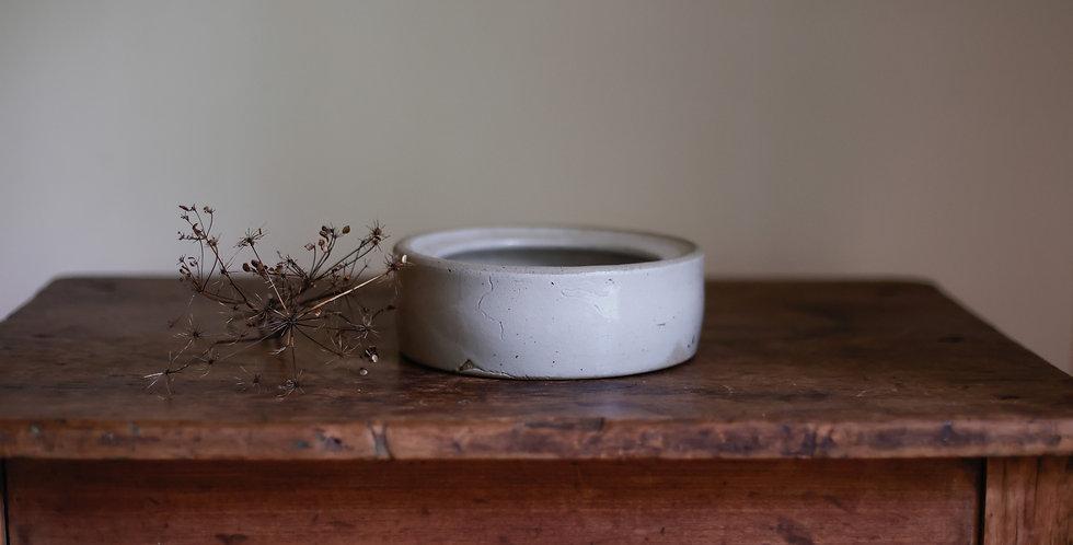 vintage stoneware pet bowl