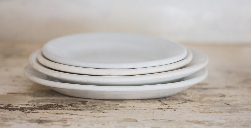 antique ironstone plate set of 4