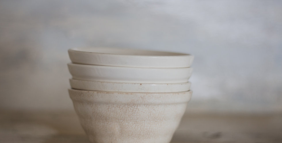antique ironstone bowl set