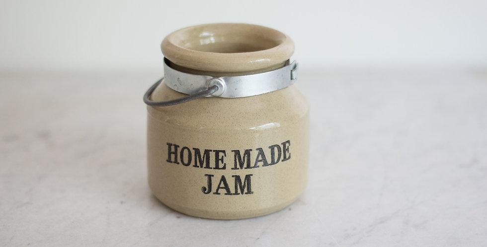 primitive english stoneware jam crock