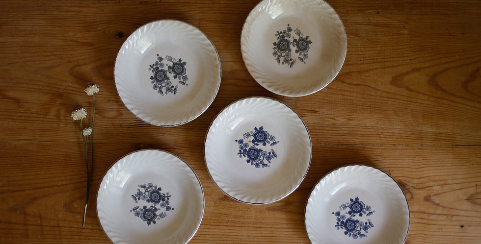 antique ironstone candle plates