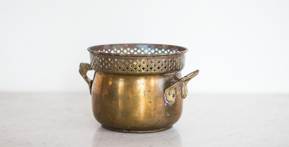 vintage brass canister