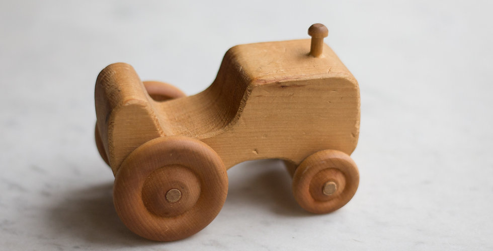 vintage wooden tractor
