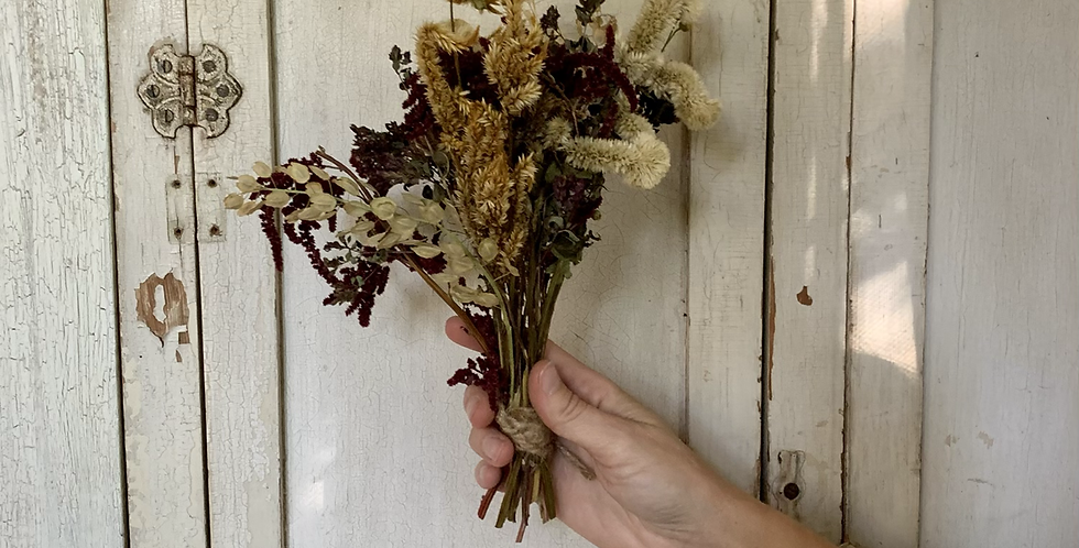 Locally harvested dried bouquet