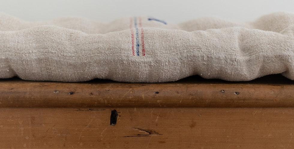 antique grain sack floor pillow
