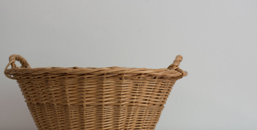 vintage mini laundry basket