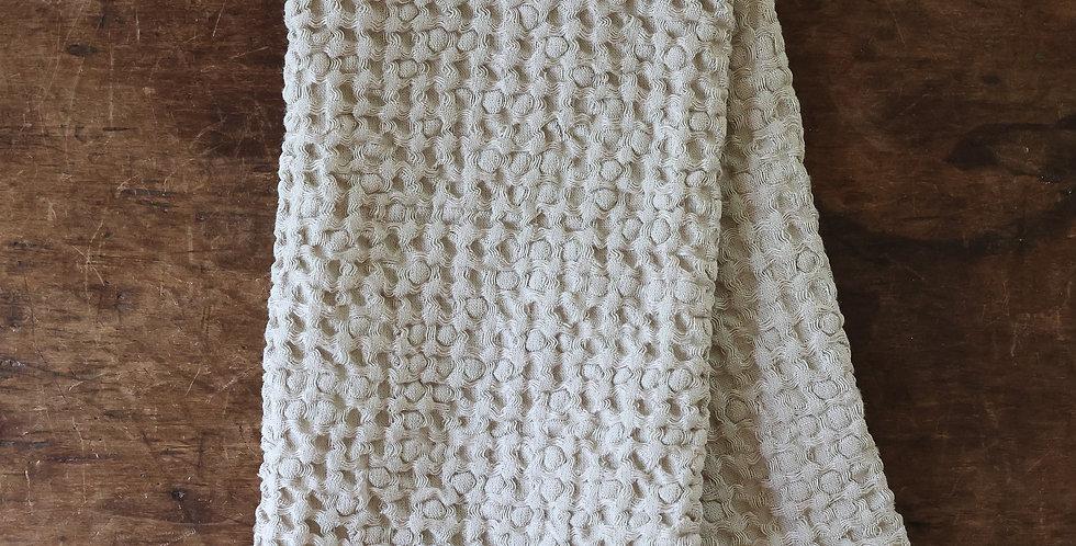 linen + cotton waffle weave towel
