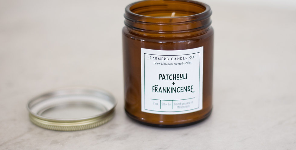 Farmers Candle Co | Patchouli + Frankinsense