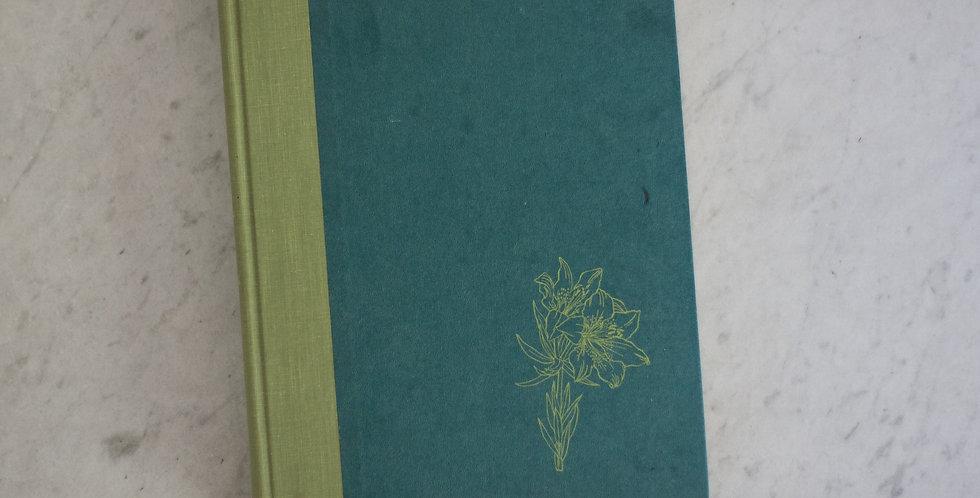 vintage floral print book