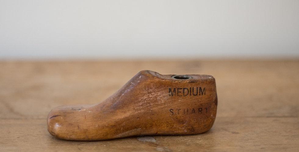 vintage wooden toddler shoe mold