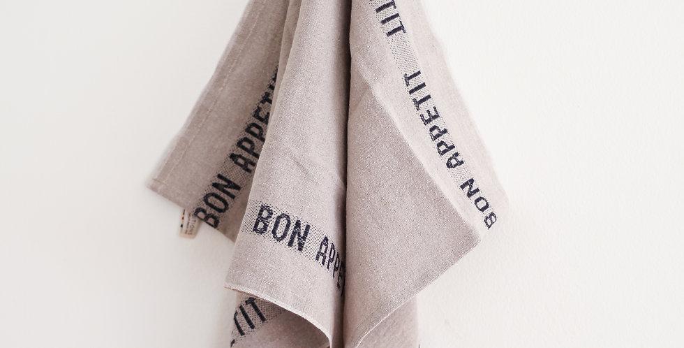 french tea towel | black bon appetit