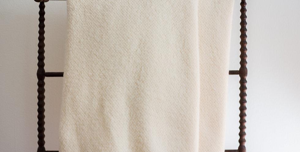 vintage woven knit blanket