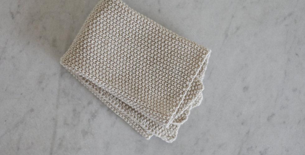 knitted washcloth | natural