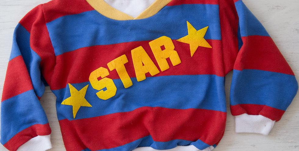 vintage star sweatshirt | 24 mo