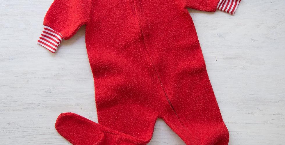 vintage red sleeper | 0-6 mo