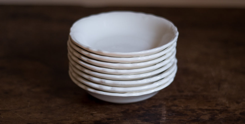 ironstone candle plate